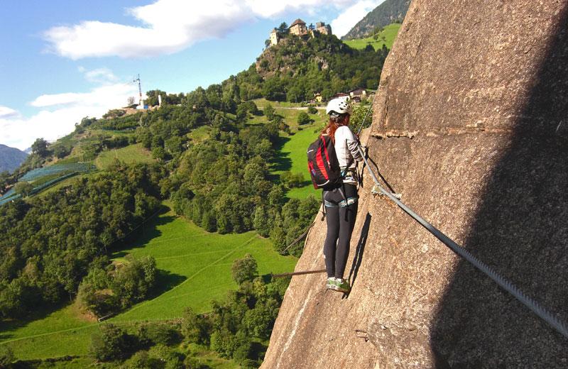 Klettersteig Naturns : Hoachwool klettersteig meraner land vivosüdtirol